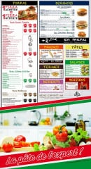 Menu Koss Pizza - Pizzas, burgers, paninis,...