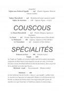Menu Le Marrakchi - Couscous et spécialités