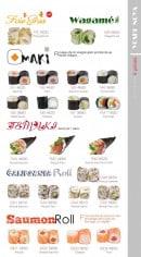 Menu Yoshinoya - Les maki, california roll, saumon roll
