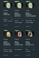 Menu Sushi soba - Les témakis et makis rolls