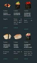 Menu Sushi soba - Les sushis et gunkans page 2