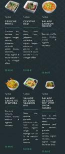 Menu Sushi soba - Les salades et ceviches