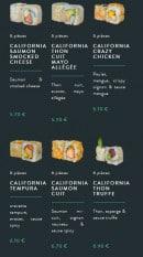 Menu Sushi soba - Les californias rolls page 2