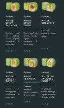 Menu Sushi soba - Les fresh rolls et white rolls page 2