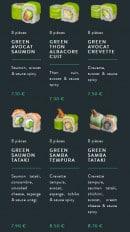 Menu Sushi soba - Les salmons et green rolls page 2
