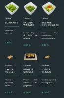 Menu Sushi soba - Les entrées page 2