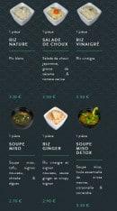 Menu Sushi soba - Les entrées