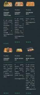 Menu Sushi soba - Les plateaux page 2