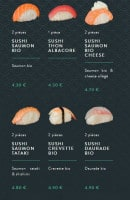 Menu Sushi soba - Les sushis et gunkans