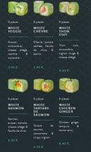 Menu Sushi soba - Les fresh rolls et white rolls
