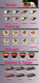 Menu Sushi VIP - Les temakis, les tartares,.....