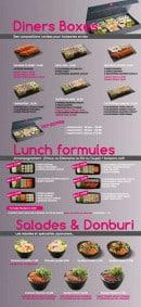 Menu Sushi VIP - Les dîners boxes, les formules midi,....