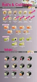Menu Sushi VIP - Les rolls, les caifornias et les makis