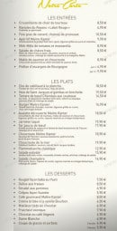 taverne de maitre kanter carte Taverne de Maitre Kanter à Arcueil, carte menu et photos