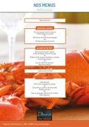 Menu L'Aquarium - Le menu à 95€