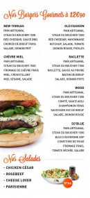 Menu Warm Burger - Burgers gourmets et salades
