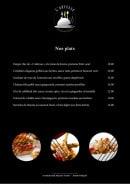 Menu L'Adresse - Les plats