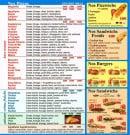 Menu Allo pat a Pizza - Les pizzas, sandwiches, burgers et pizzwichs