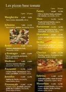 Menu Pizzeria Graffagnino - Les pizzas à base de tomate