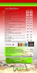 Menu Antillais food - Les pizzas suite