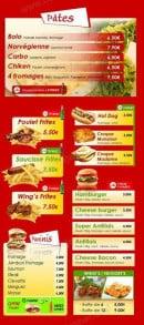 Menu Antillais food - Les pates