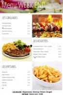 Menu Snack Boulevard de l'océan - Grillades, assiettes et fritures