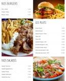 Menu Snack Boulevard de l'océan - Burgers, plats et salades
