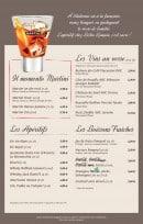 Menu Bistro Romain - les apéritifs et boissons