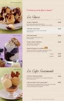 Menu Bistro Romain - les glaces et café gourmand