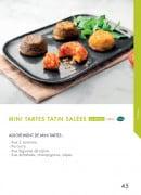 Menu class'croute - Mini tartes tatin salées