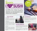 Menu Eat Sushi - l'offre du mardi
