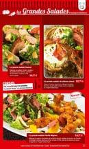 Menu La Boucherie - les grandes salades - suite