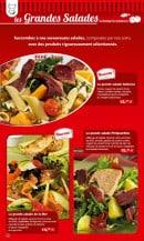 Menu La Boucherie - les grandes salades