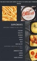 Menu O'tacos - Les suppléments