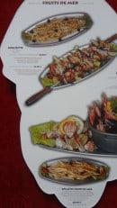 Menu Pedra Alta - Brochette Calamars, gambas et Grillé de fruits de mer