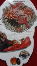 Menu Pedra Alta - Pedra royal : huitre, crevettes, bulots, homard, ....