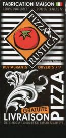 Menu Pizza Rustica - carte et menu pizza rustica à paris
