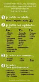 Menu Pomme de Pain - Salade sur Mesure (pas chez tous les Pomme de Pain)
