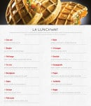 Menu Waffle factory - Les lunchwaf