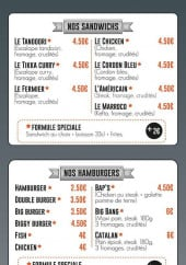 Menu All Time'S - Les sandwiches, assiettes et hamburgers