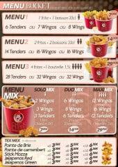 Menu Chick & Chay - Les menus suite