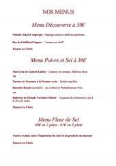 Menu La Fleur de Sel - Les menus
