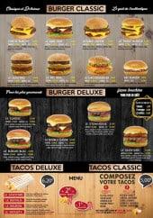 Menu Le Family's - Les burgers et tacos
