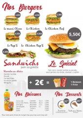 Menu Taco's World - Les burgers, sandwiche, boissons et desserts