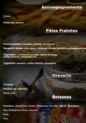 Menu L'Escale - Les accompagnements, pâtes...