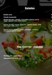 Menu L'Escale - Les salades et entrées chaudes