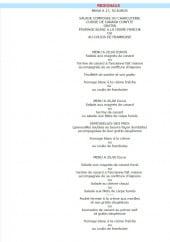 Menu Auberge du Mollard - Le menu régionaux
