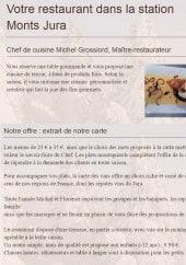Menu Hôtel du Centre - La carte et menu de l'Hôtel du Centre à Lelex