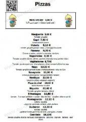 Menu Relais Mont Jura - Les pizzas: marguerita, napolitaine,...