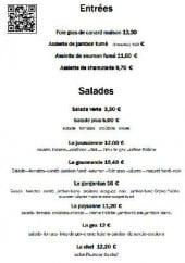 Menu Relais Mont Jura - Les entrées et les salades